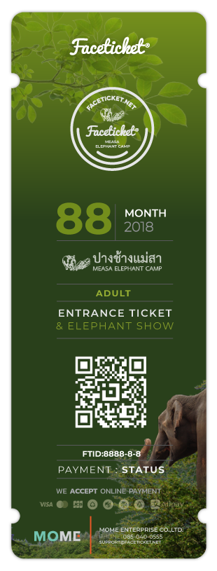 Entrance & Elephant Show Ticket