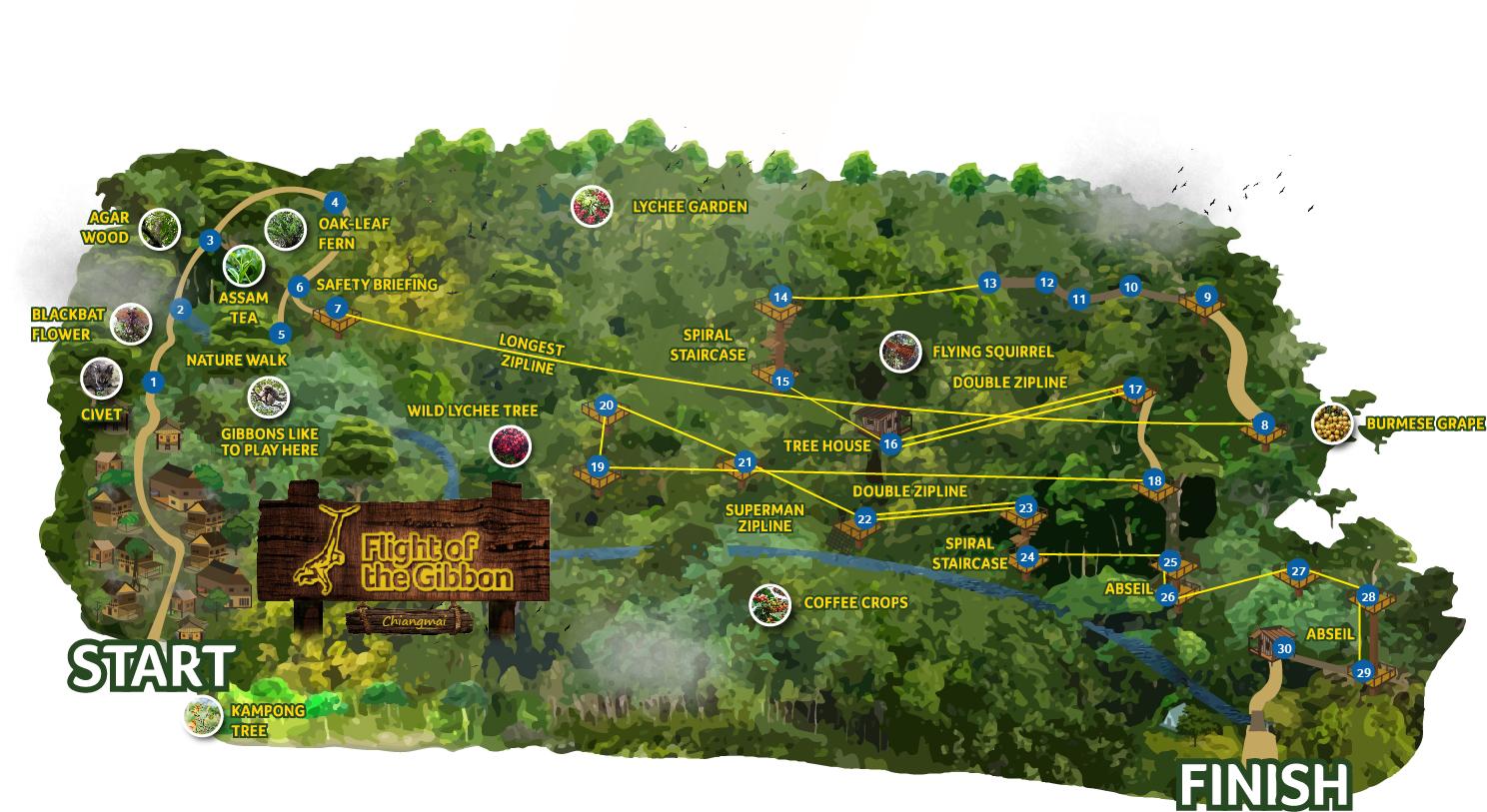 Map longest zipline chiang mai